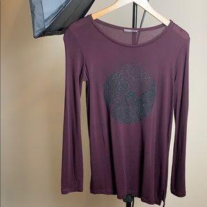 Zara long Steve shirt with black sparkle design